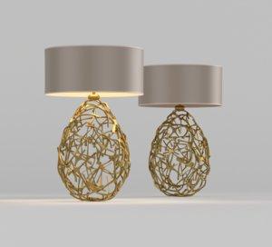 3D mic mac table lamp