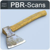 hatchet tool old 3D model