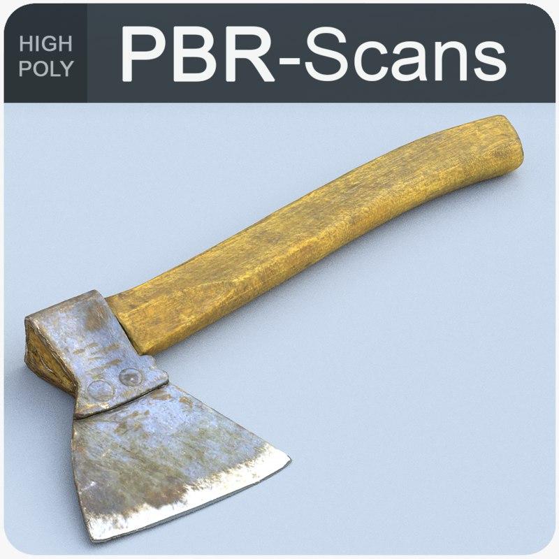 hatchet tool old 3D model
