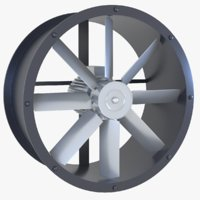 axial flow fan model