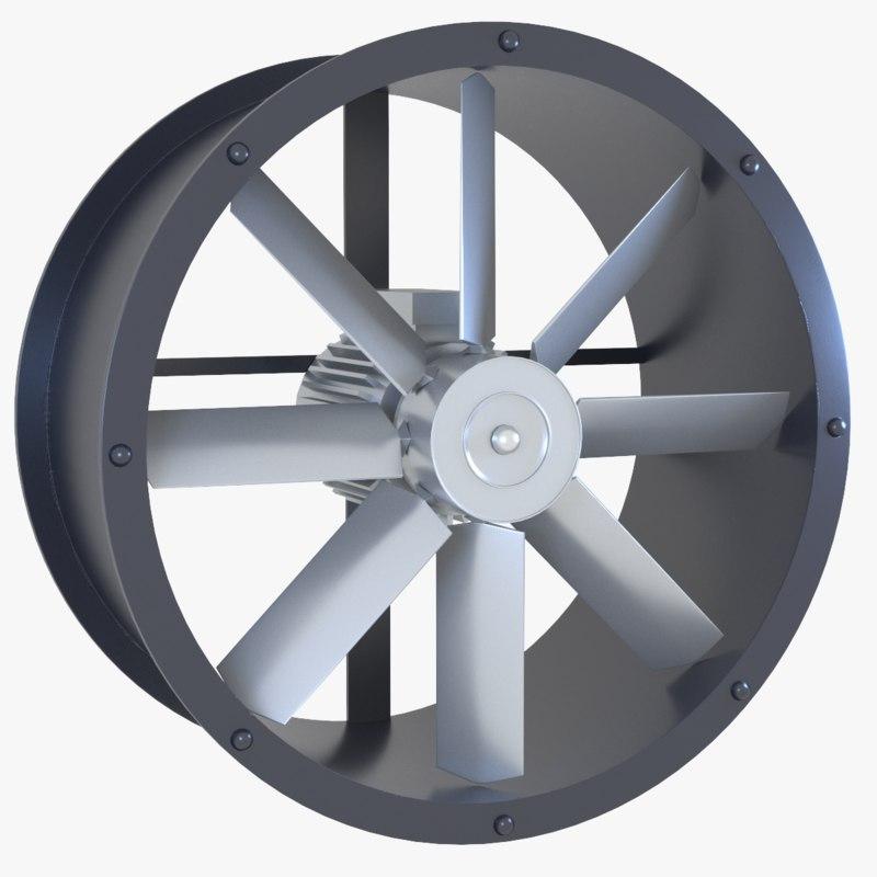 axial flow fan model