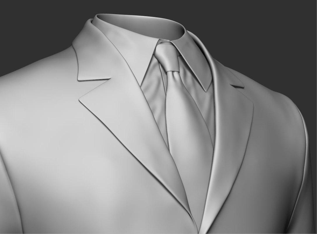 zbrush sculpt suit jacket 3D model