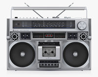 Retro Boombox JVC RC-838 Biphonic Silver