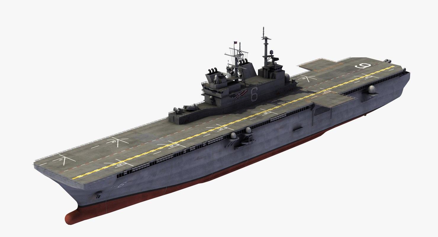 lha-6 uss america 3D model