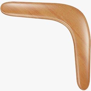 3D wooden boomerang