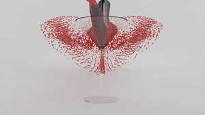 glass martini splash 3D model