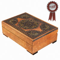 3D model wood wooden box