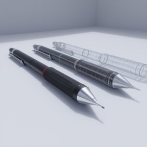 3D technical pencil model