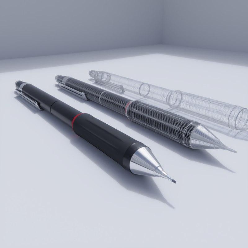 3D technical pencil model