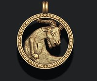 horoscope capricorn 3D model