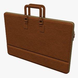 portfolio briefcase 3D