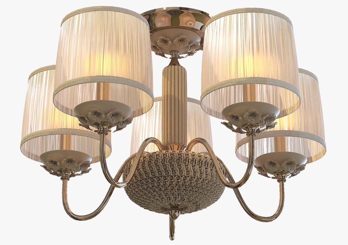 3D chandelier crystal