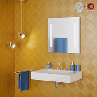Bathroom interior scene 008 mirror506