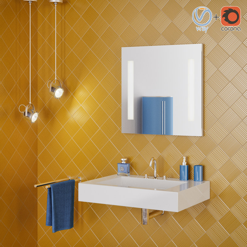 bathroom interior scene 3D model