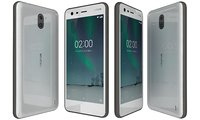 nokia 2 pewter white 3D