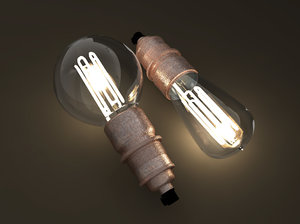 3D model eco-filament light bulbs