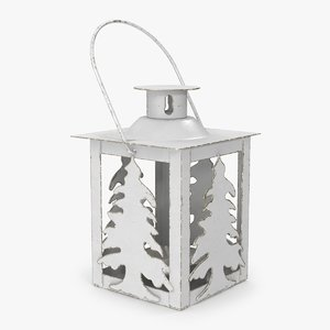 3D christmas tree lantern model