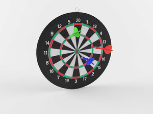 realistic dartboard model