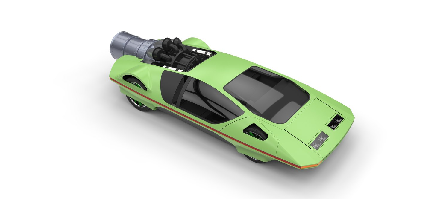 3D car concept jet