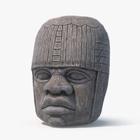 Olmec Statue - Game Ready