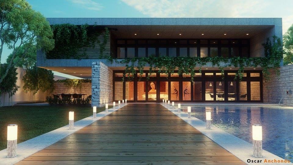 backyard house lightwave 3D model