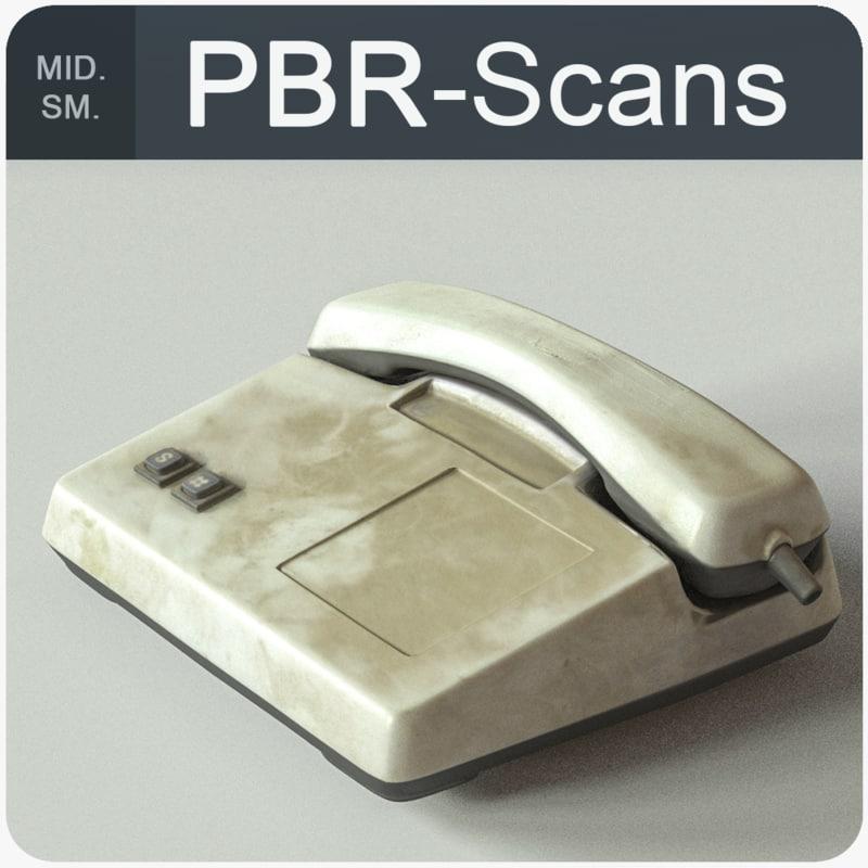 cellphone old pbr 3D