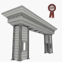 3D guard house guardhouse
