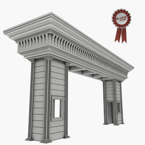 3D guard house guardhouse
