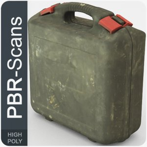 3D model suitcase tool pbr