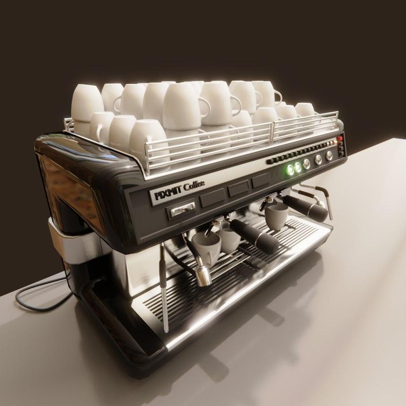 3D barista coffeemaker cups