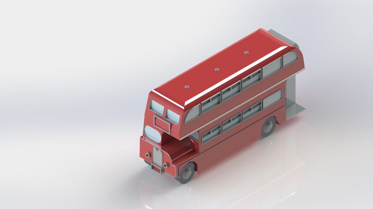3D london bus red