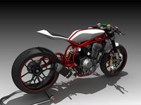 3D motorcycle concept