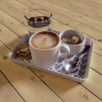 3D coffee cookie model