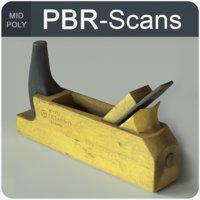 jackplane tool wood 3D model