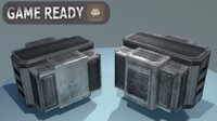 3D scifi crate container model