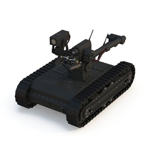 military army robot 2 3D model