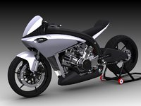 motorcycle concept 3D