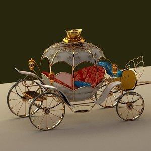 3D chinese wagon clock model