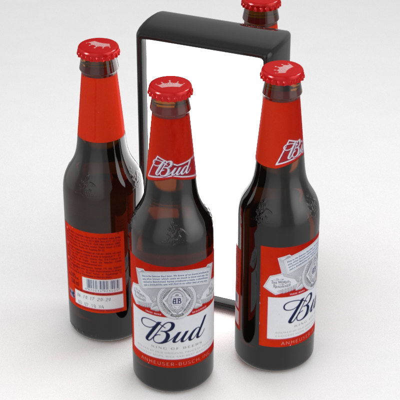 3D model beer budweiser bud
