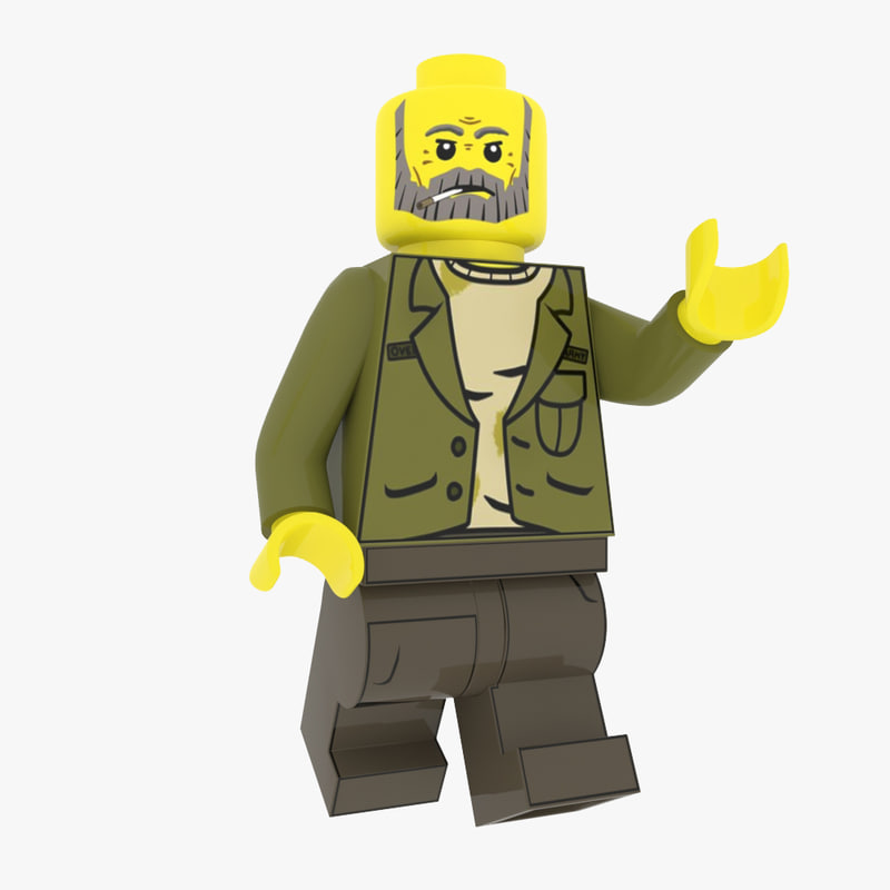 3D realistic lego figure model