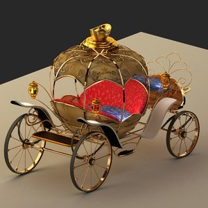 3D model chinese wagon clock