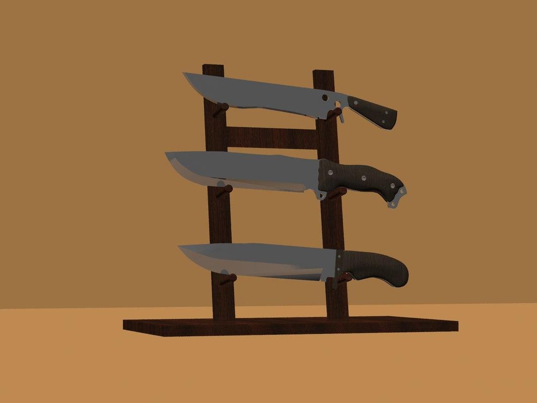 set knives 3D model