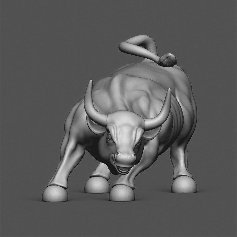 new york bull 3D model