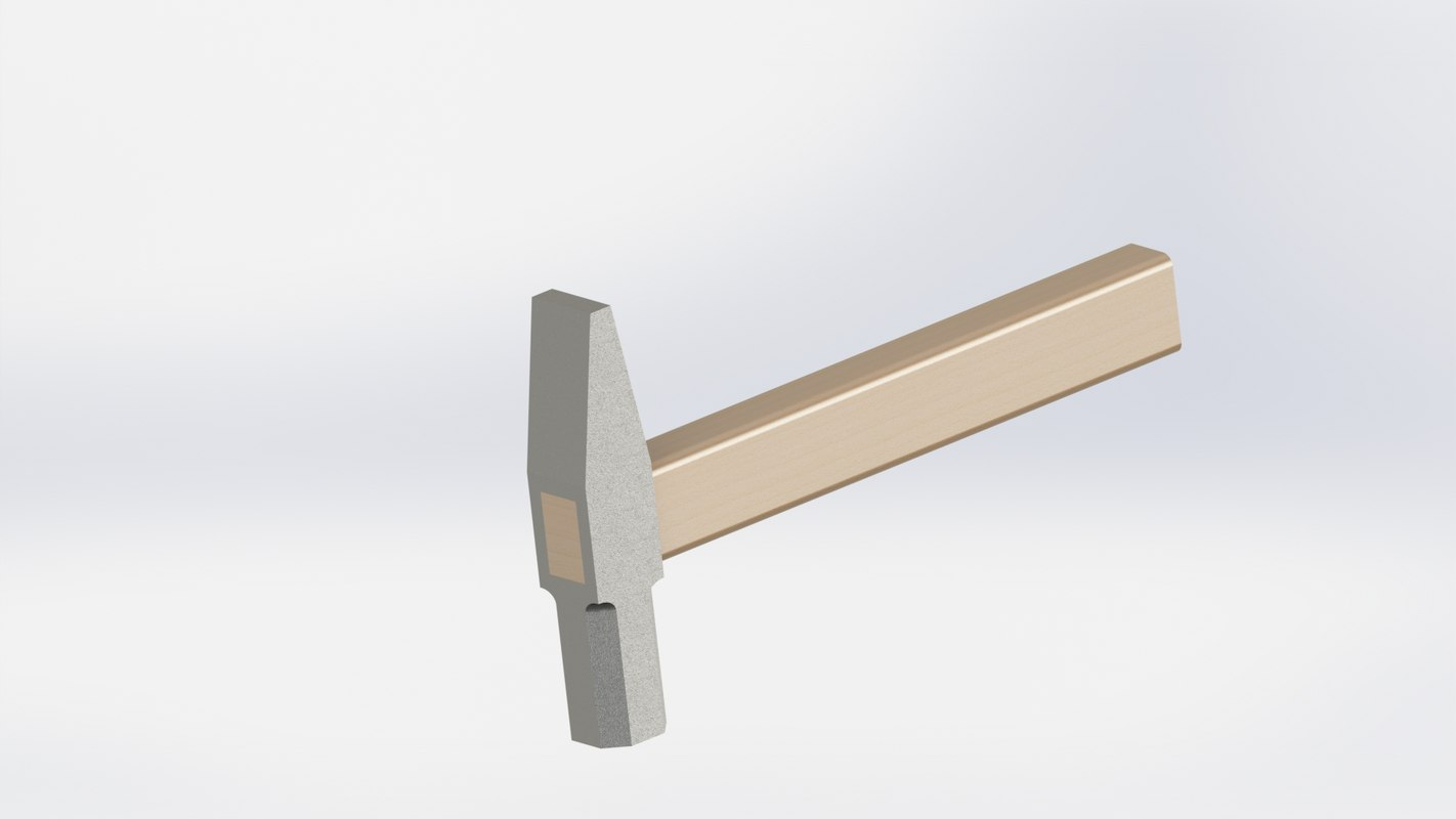 modeled metal 3D model