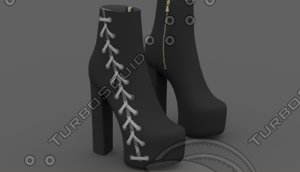 laced heel shoes model