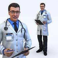 3D male doctor model