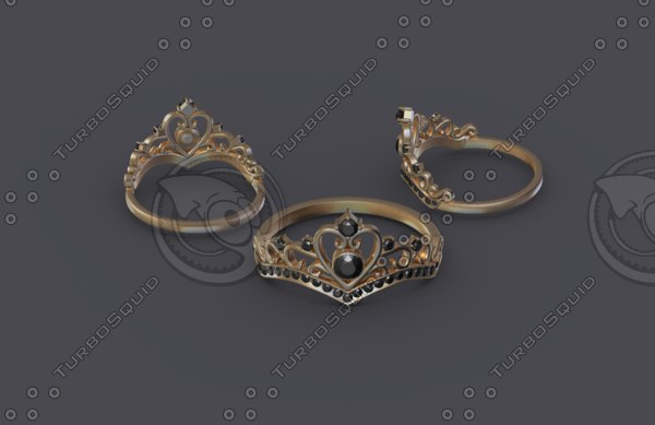 women ring gold model