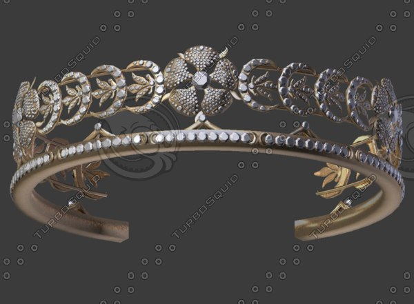 ladies crown 3D model
