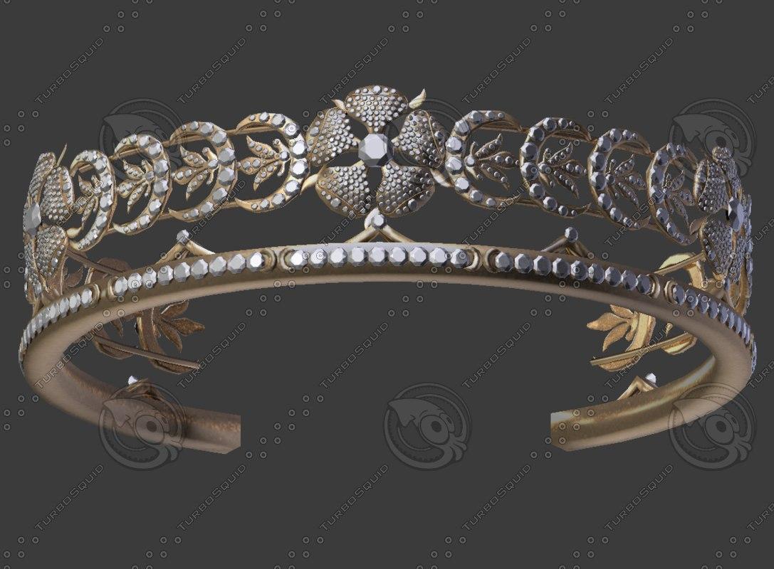 ladies crown 3D model