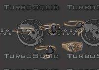 3D rings 12 model